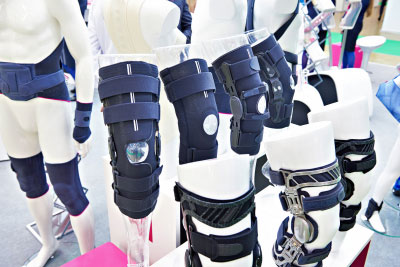 Foot orthoses for the knee joint in exhibition store